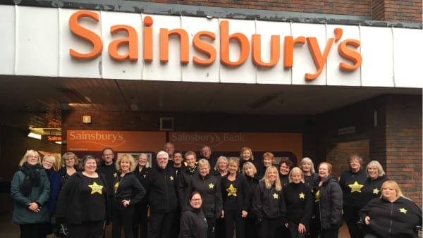 Rock Choir sing a song for Sainsbury's